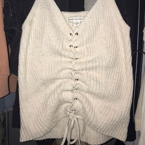 American Eagle Sweater Tie Tank